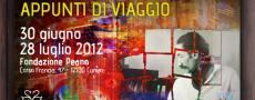 Riccardo Chicco 'Appunti di Viaggio' alla Fondazione Peano